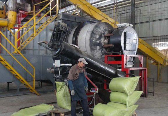 新疆乌鲁木齐竹炭生产车间